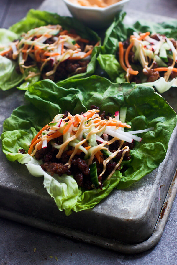 lettuce wraps for two