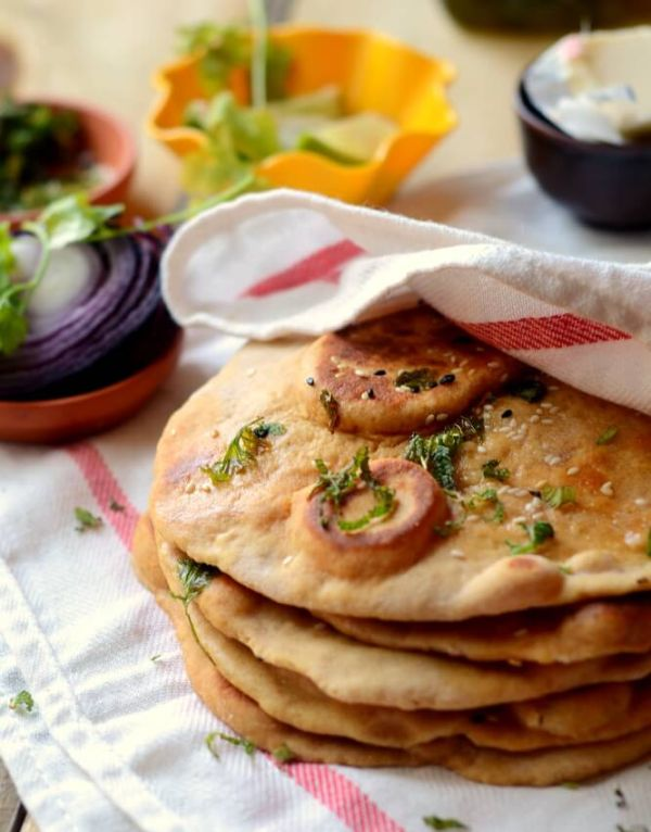 healthy naan bread recipe