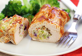 Cheesy BBQ Chicken Roll Rezept, 35g Protein!