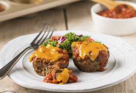 Muffin Tin Meatloaves Rezept: Schnell, Freezable & 166 Kalorien (+ Video)!
