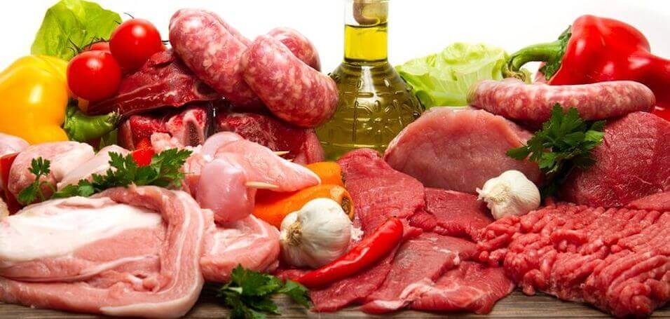assortment of protein
